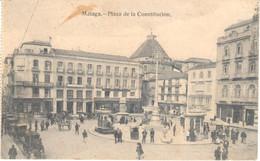 POSTAL   MALAGA  -ANDALUCIA  -PLAZA DE LA CONSTITUCION - Málaga