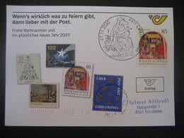 Österreich- Christkindl 27.11.2020 FDC Auf ÖPT Karte Mit Leitzettel Echt Gelaufen - 2011-... Cartas