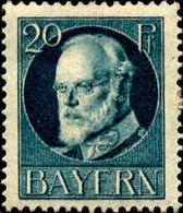Allemagne (Bavière) Poste N* Yv: 97A Mi:97A Ludwig III (Trace De Charnière) - Bayern (Baviera)