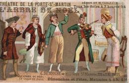 CHROMO C. DETOUCHE PARIS  THEATRE DE LA PORTE SAINT-MARTIN  L'ARBRE DE NOEL  LA LECON DE VIOLON - Otros