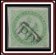 Colonies Générales - Aigle Impérial N° 2 (YT) N° 2 (AM) Oblitéré PD Encadré De Réunion. Aminci. - Águila Imperial