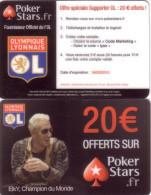 CARTE JEU GAME CARD POKER STARS FOOTBALL OLYMPIQUE LYONNAIS O.L VALID 04.03.2013 - Sport