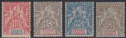Soudan Français 1894-1900 - N° 16 à 19 (YT) N° 16 à 19 (AM) Neufs * Ou **. - Unused Stamps