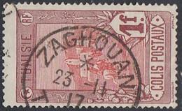 Tunisie - Zaghouan Sur Colis Postal N° 8 (YT) N° 8 (AM). Oblitération De 1917. - Used Stamps