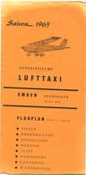 Deutschland - Ostfriesische Lufttaxi Emden 1965 - Faltblatt - Europe