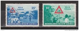 Nederlands Nieuw Guinea Dutch New Guinea 73 - 74 Used ; Veilig Verkeer, Safe Traffic 1962 - Nederlands Nieuw-Guinea