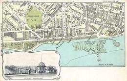 EASTBOURNE (Sussex) Map - The Pier - Publ. J. Bartholomew - Eastbourne
