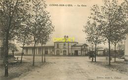 03 Cosne Sur Oeil, La Gare, Affranchie 1909, Visuel Pas Courant - Autres Communes
