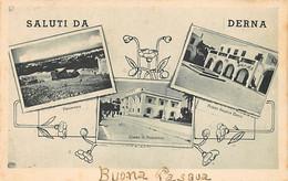 Libya - DERNA - Panorama - Cassa Di Risparmio - Piazza Regina Elena - Libyen