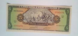 El Salvador 5 Colones 25 De Agosto 1983 - El Salvador