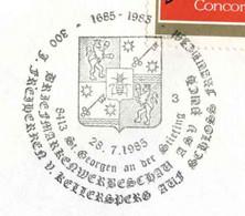 830  Abeille, Lion, Blason: Oblit. Temporaire D'Autriche, 1985 - Lions, Bee In Coat Of Arms - Honeybees