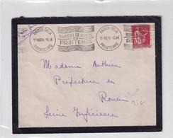 1934 - SUPERBE OMEC Du BUREAU De POSTE Du MAGASIN PRINTEMPS ! Sur ENVELOPPE De PARIS => ROUEN - Mechanical Postmarks (Advertisement)