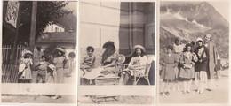 FRANCE - 74 - HAUTE SAVOIE - CHAMONIX - LOT 6 PHOTOS - GARAGE HOTEL HOUTTET - 1930 - Orte