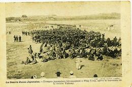 12567 Bis   La Guerre Russo - Japon Aise. - TROUPES JAPONAISES BIVOUAQUANT à PING - YANG / RIVIERE TAITONG  - RUSSIE/JAP - Russia