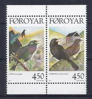 Faroer 1998 Uccelli / Dänemark Färöer 1999 Mi-Nr. 332 + 333 Standvögel - Färöer Inseln