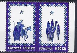 Faroer 2015 Natale / Dänemark Färöer 2015 Mi-Nr. 844 + 845 Weihnachten - Färöer Inseln