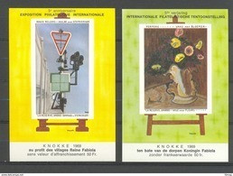 E 109/110 NELLENS EN PERMEKE  BLOKKEN   POSTFRIS** 1969 - Commemorative Labels