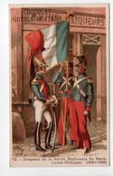 - CHROMO CHOCOLAT GUÉRIN-BOUTRON - PARIS - Drapeau De La Garde Nationale De Paris - Louis-Philippe - - Guerin Boutron