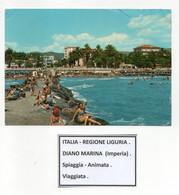 Diano Marina (Imperia) - Spiaggia - Animata - Viaggiata - (FDC26427) - Imperia