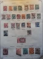 ITALIA ITALIE ITALY, 1893 - 1903, Collection 28 Timbres Obl Dont Colis Postaux Pacchi Postali, Espresso, Sur Page Album - Collections