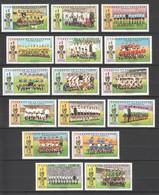 WW866 SALVADOR SPORTS FOOTBALL OVERPRINT 1974 GERMANY 1970 MEXICO MICHEL #1091-1106 16 EURO MNH - 1974 – West-Duitsland