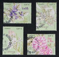 5400 à 5403 France 2020 4 Timbres Fleurs De Grasse Et De Mediterranéer- Oblitéré - Gebraucht