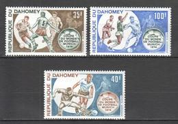 XX086 DAHOMEY SPORTS FOOTBALL WORLD CUP MUNICH 1974 1SET MNH - 1974 – West-Duitsland