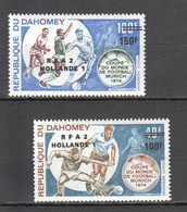 XX087 DAHOMEY OVERPRINT SPORTS FOOTBALL WORLD CUP MUNICH 1974 1SET MNH - 1974 – West-Duitsland