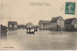 """60 CREIL Inondations De L'Oise , 5 Mars 1910 - Le Foyer Creillois , Dit """"Le Maroc"""" - Creil"""