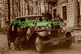 RARE PHOTO FORMAT 20x30 Cm ................ SUPERBE HISPANO SUIZA BIEN ENTOUREE VERS 1935 - Auto's