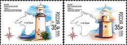 Russia, 2020, Mi. 2923-24, Lighthouses Of Crimea, MNH - Unused Stamps