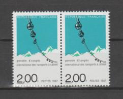 FRANCE / 1987 / Y&T N° 2480 ** : Transports à Câbles X 2 En Paire - Neufs