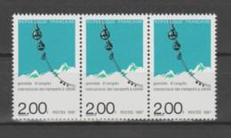 FRANCE / 1987 / Y&T N° 2480 ** : Transports à Câbles X 3 En Bande - Neufs