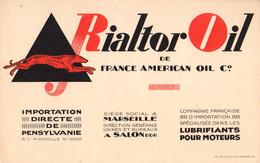 Avis De Passage RIALTOR OIL Lubrifiant Pour Moteurs (Marseille) - 1900 – 1949