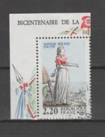 """FRANCE / 1989 / Y&T N° 2593 : """"Bicentenaire De La Révolution"""" (Mme Roland) - Choisi - Cachet Rond (CdF) - Oblitérés"""