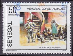 Timbre Oblitéré Sénégal 1992 - Mémorial Gorée Almadies, Le Port De L'angoisse - Senegal (1960-...)