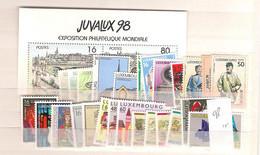 1998 MNH Luxemburg Year Complete According To Michel, Postfris - Volledige Jaargang