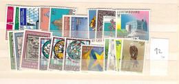 1992 MNH Luxemburg Year Complete According To Michel, Postfris - Volledige Jaargang