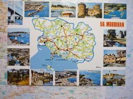 Carte Du Département Du Morbihan Avec Vues Multiples - Zonder Classificatie