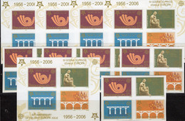 10x Blöcke 50 Jahre CEPT 2006 Serbien 3261/4 4-Block+Bl.60B ** 115€ Bloque Blocs History Stamps Ss Sheets Bf EUROPE - 2006