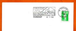 15 MARCENAT  MUSEE DE LA FOUDRE    1996 Lettre Entière N° IJ 829 - Sellados Mecánicos (Publicitario)