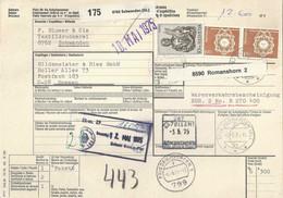Begleitadresse  Schwanden GL - Bremen                1975 - Brieven En Documenten
