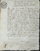 Révolution Laissez Passer Municipalité Tonnoy Meurthe Et Moselle Pr St Die Domestique Et Son Fils Ausweis Passeport - 1701-1800: Precursors XVIII