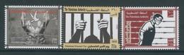 Palestine 268, Palestinian Authority, 2014,  PRISONERS' DAY, 3 Stamps.  MNH. - Palestine