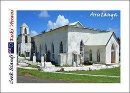 Cook Islands Aitutaki Arutanga Church New Postcard Cookinseln AK - Cook Islands