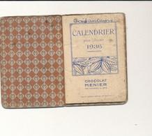 Chocolat Meunier Agenda De 1936 Calendrier - 6cm X 8cm - Publicités