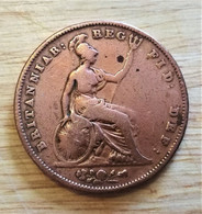 Monnaie Grande Bretagne/Great Britain - One Penny 1841 - D. 1 Penny