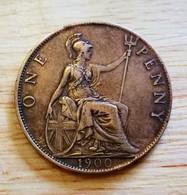 Monnaie Grande Bretagne/Great Britain - One Penny 1900 - D. 1 Penny