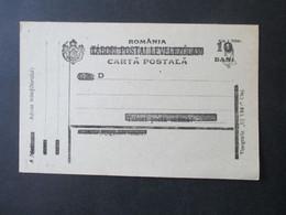 Neu Rumänien 1919 Ganzsache P3 Undgebraucht Ungarisches Feldpostkartenformblatt 1918 Mit Klausenburger Buchdruckaufdruck - Covers & Documents
