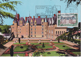 CM-Carte Maximum Card # France-1968 # Sites & Monuments # Architecture, Château,castle Of Langeais, Obl. Flamme Langeais - 1960-69